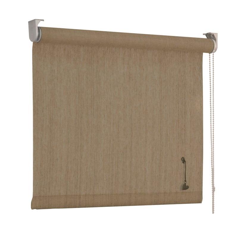 vtwonen Rolgordijn structuur - Zand streep - Lichtdoorlatend - 150cm x 190cm