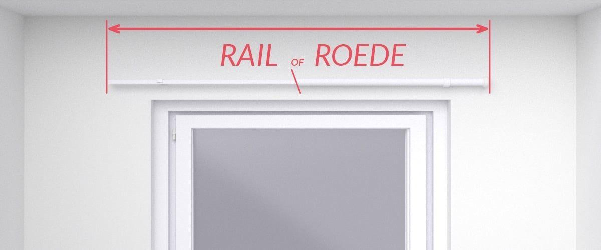 breedte van de rail of roede