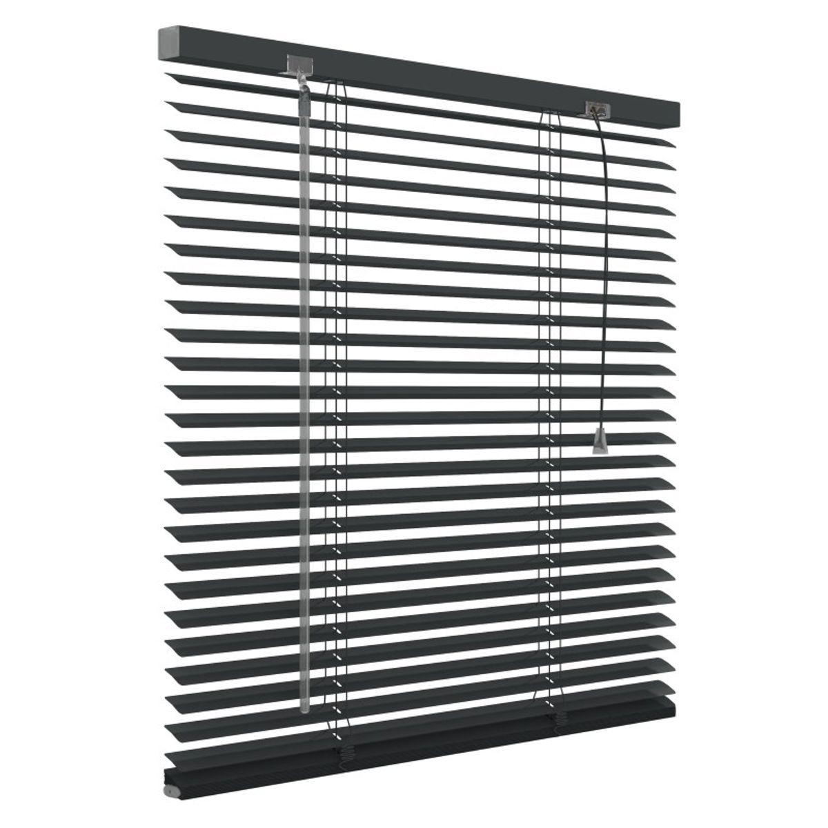Aluminium jaloezie 25mm - Antraciet - 60cm x 180cm