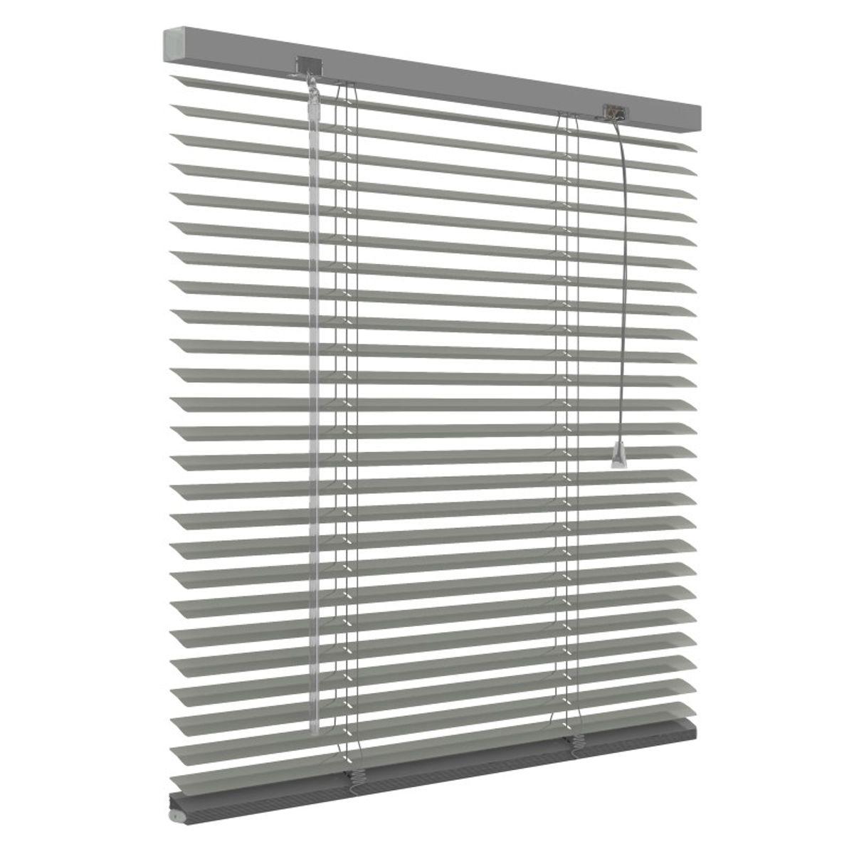 Aluminium jaloezie 25mm - Grijs - 100cm x 130cm