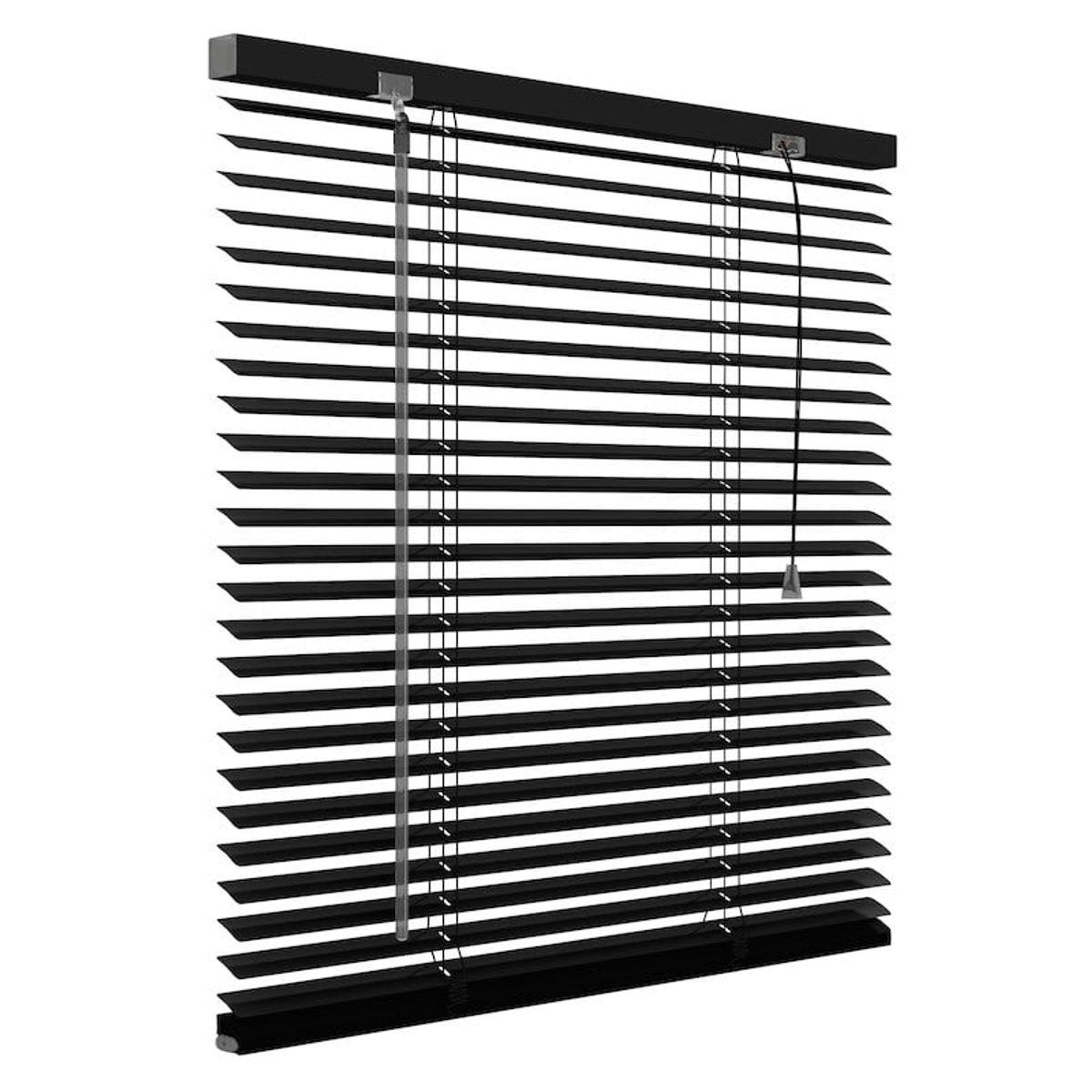 Aluminium jaloezie 25mm - Mat zwart - 60cm x 180cm