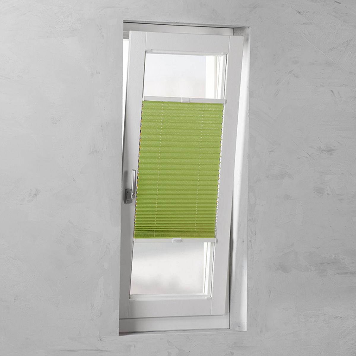 Plisségordijn gespannen - Lichtdoorlatend - Groen - 70cm x 130cm