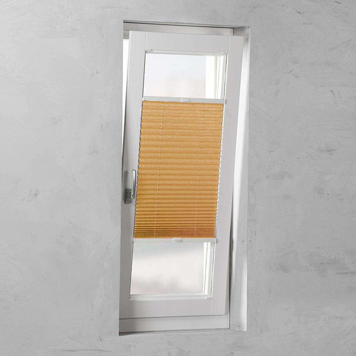 Plisségordijn gespannen - Lichtdoorlatend - Oranje - 120cm x 130cm
