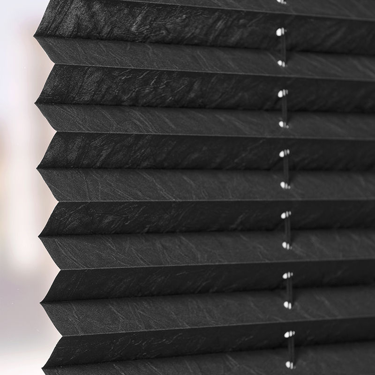 Plisségordijn gespannen - Lichtdoorlatend - Raven Grey - 110cm x 130cm