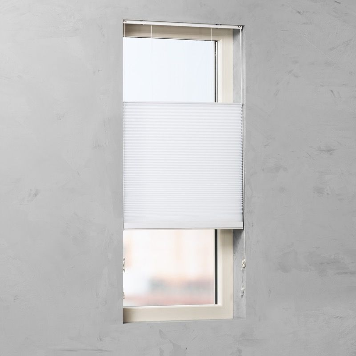 Plissé Gordijn - Wit - 80cm x 175cm
