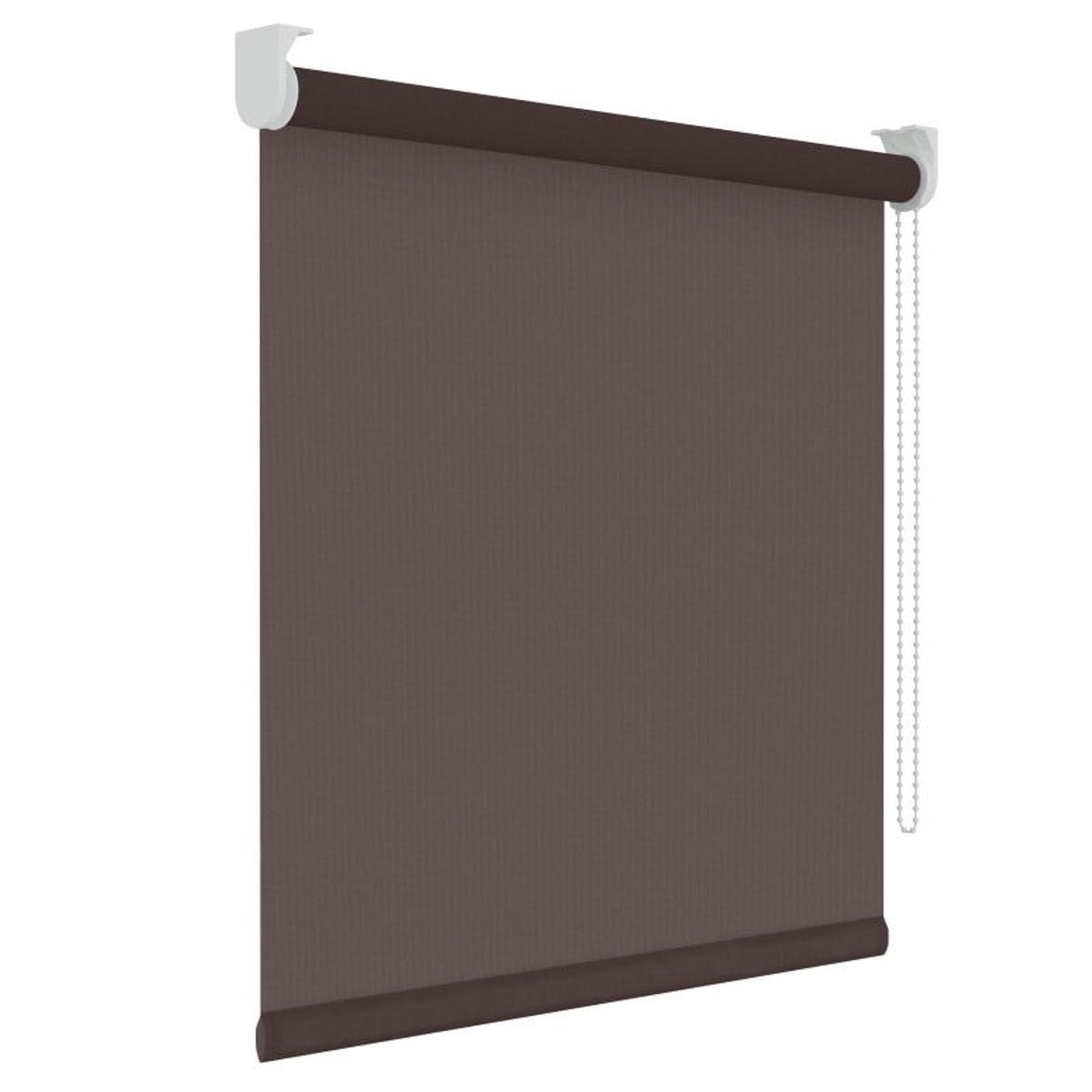 Rolgordijn - Lichtdoorlatend - Chocoladebruin - 120cm x 190cm