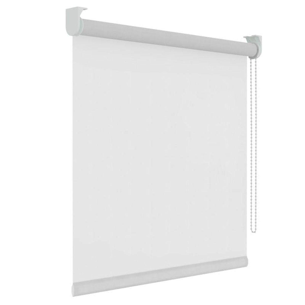 Rolgordijn - Lichtdoorlatend - Wit - 90cm x 250cm