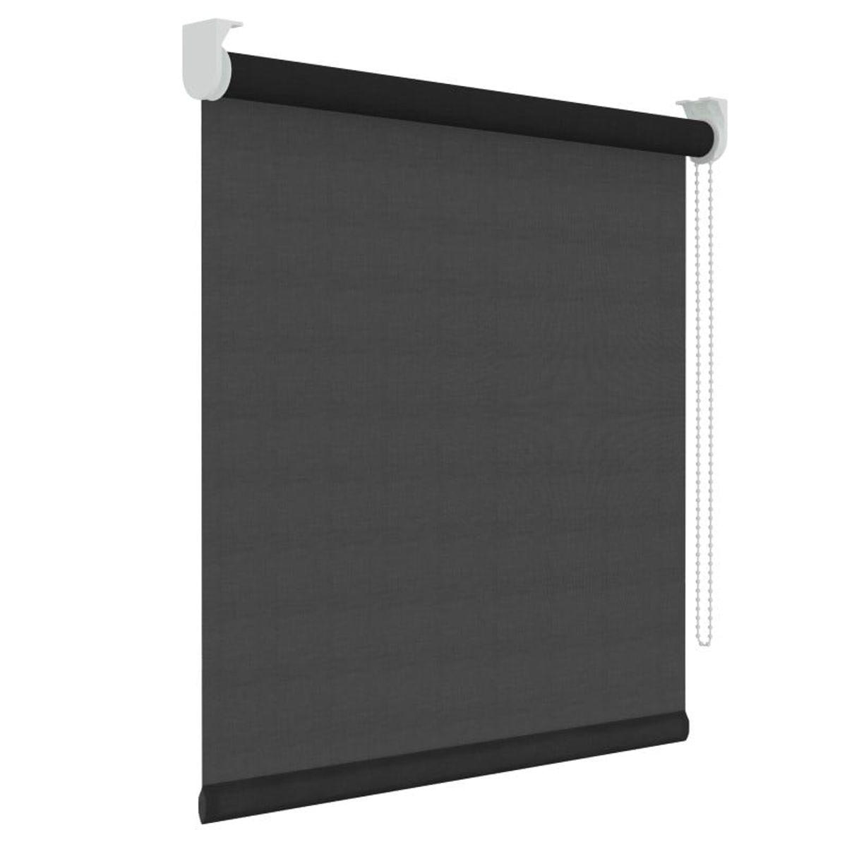 Rolgordijn - Lichtdoorlatend - Zwart - 150cm x 190cm