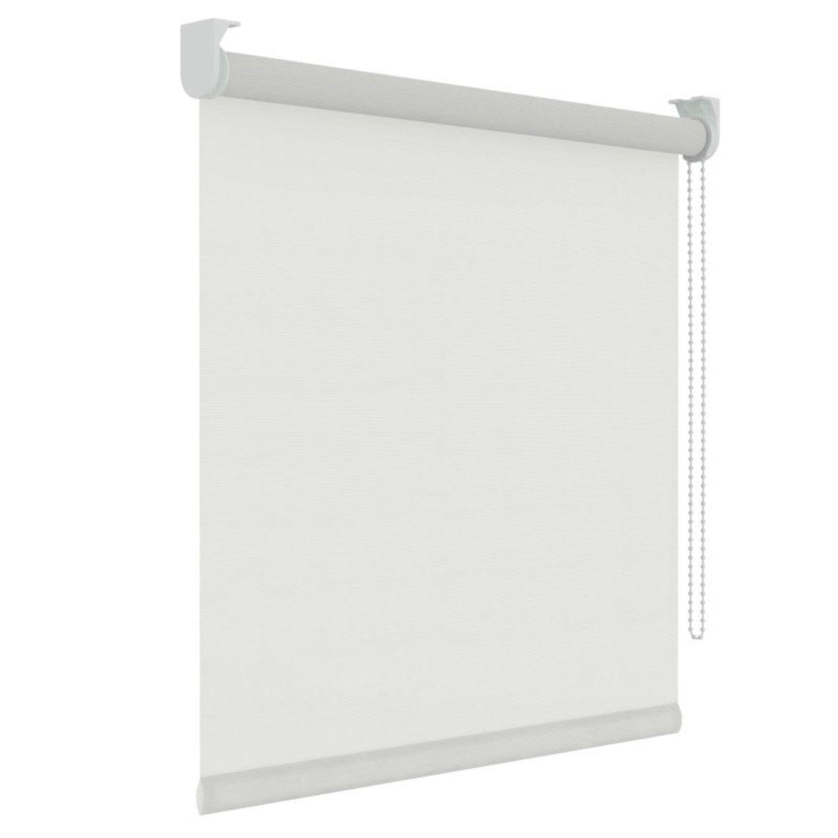 Rolgordijn structuur - Wit - Lichtdoorlatend - 210cm x 190cm