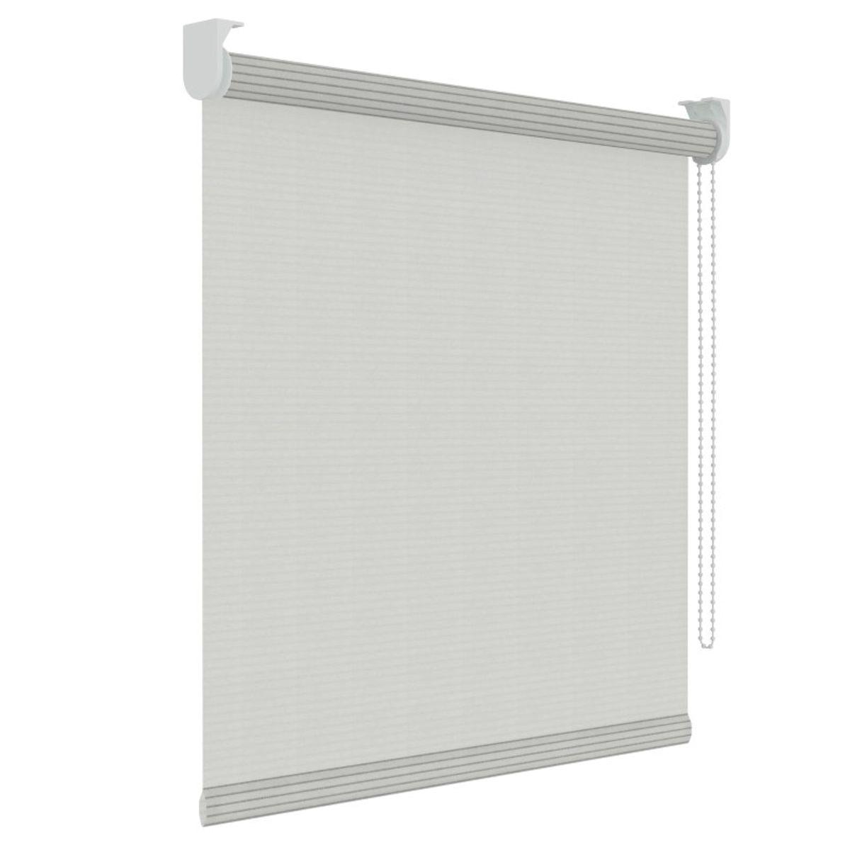 Rolgordijn structuur - Wit streep - Lichtdoorlatend - 180cm x 190cm