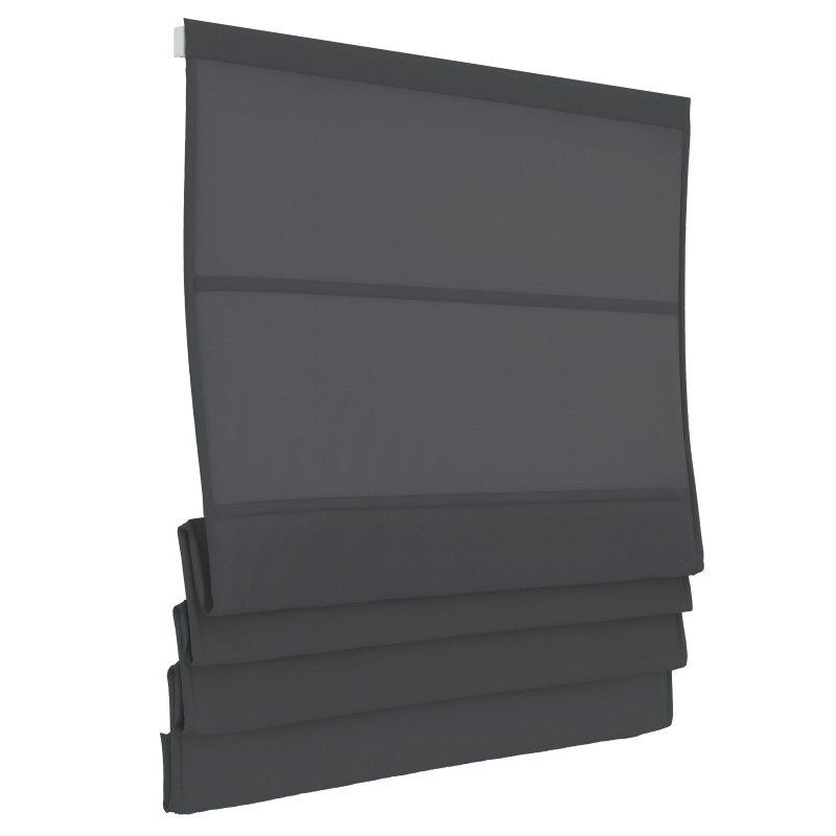 Vouwgordijn - Antraciet - Lichtdoorlatend - 100cm x 180cm