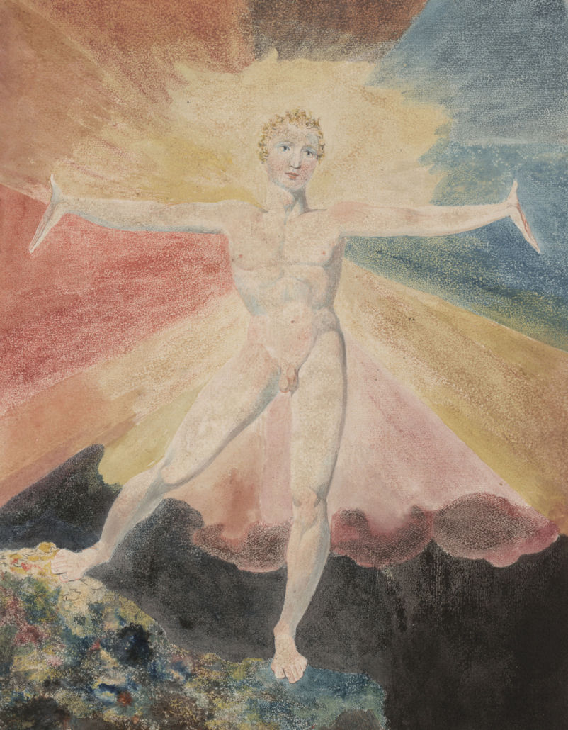 William Blake, Albion Rose, ca 1793.