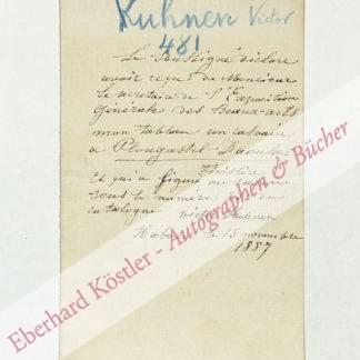 Kuhnen, Victor (Simon Gerlach Leopold), Maler (1836-?).