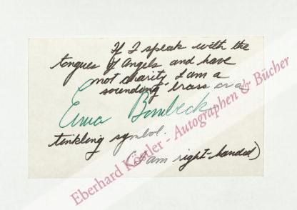 Bombeck, Erma Louise, Schriftstellerin (1927-1996).