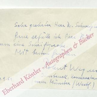 Wagner, Robert, Komponist und Dirigent (geb. 1915).