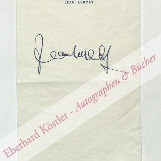 Lurçat, Jean, Maler, Keramiker und Bildwirker (1892-1966).