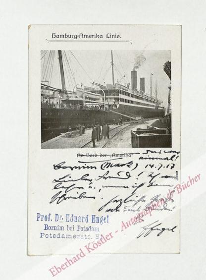Engel, Eduard, Schriftsteller und Literaturwissenschaftler (1851-1938).