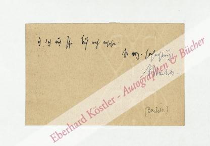 Bartels, Adolf, Schriftsteller und Literaturhistoriker (1862-1945).