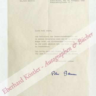 Bamm, Peter (d. i. Curt Emmerich), Schriftsteller und Arzt (1897-1975).