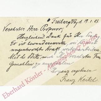 Keibel, Franz, Anatom (1861-1929).