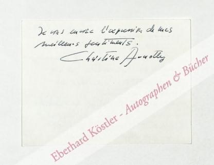 Arnothy, Christine, Schriftstellerin (geb. 1934).