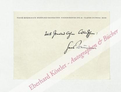 Baumann, Hans, Schriftsteller (1914-1988).