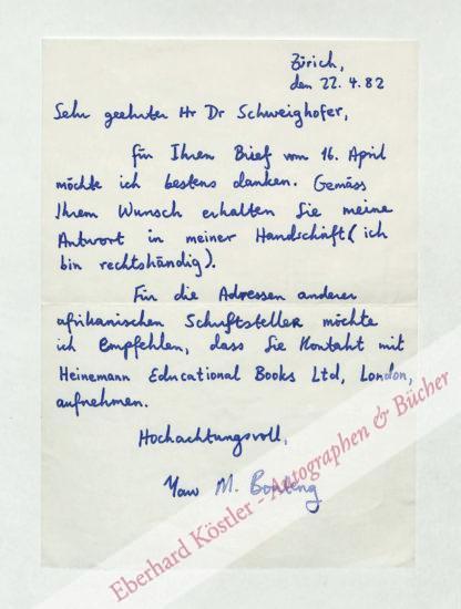 Boateng, Yaw, Schriftsteller (geb. 1950).
