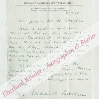 Borchers, Elisabeth, Schriftstellerin (geb. 1926).