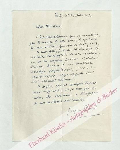 Borel, Jacques, Schriftsteller (1925-2002).