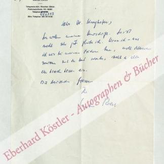 Riess, Curt, Schriftsteller (1902-1993).