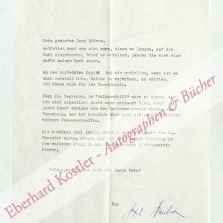 Ambesser, Axel von, Schriftsteller, Schauspieler und Regisseur (1910-1988).