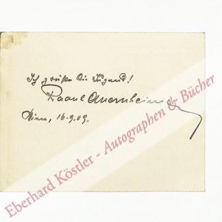 Auernheimer, Raoul, Schriftsteller (1876-1948).