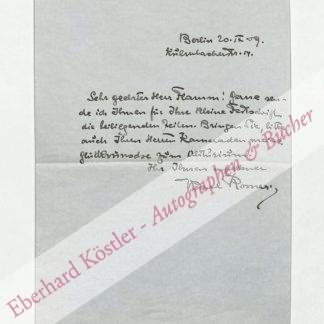Rosner, Karl, Schriftsteller (1873-1951).