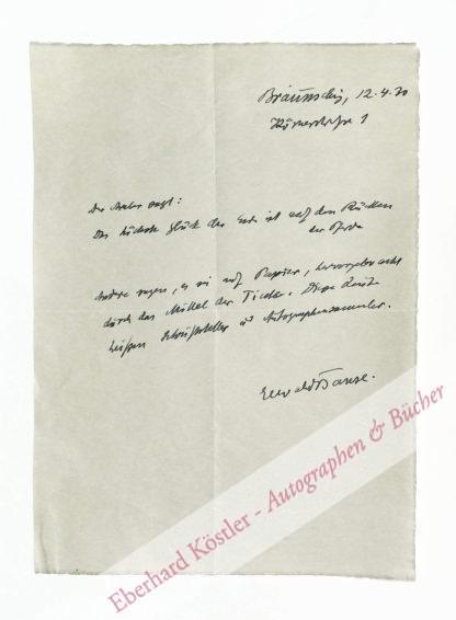 Banse, Ewald, Wehrwissenschaftler und Kulturgeograph (1883-1953).