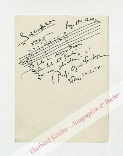 Weinberger, Charles (Karl Rudolf Michael), Komponist (1861-1939).