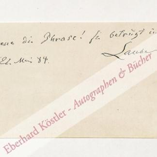 Laube, Heinrich, Schriftsteller und Theaterleiter (1806-1884).