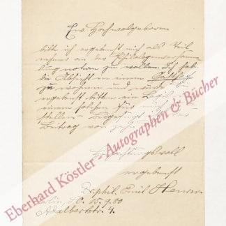 Henrici, Emil, Germanist und Handschriftenforscher (1852-1925).