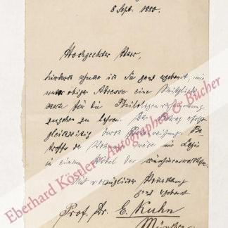 Kuhn, Ernst Wilhelm August, Philologe und Orientalist (1846-1920).