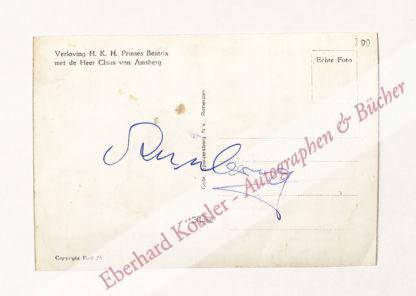 Amsberg, Claus Georg Wilhelm Otto Friedrich Gerd von, Prinzgemahl der niederländischen Königin Beatrix, Prinz der Niederlande (1926-2002).