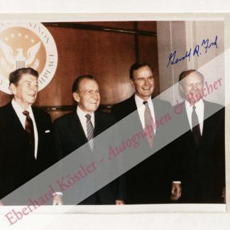Ford, Gerald, 38. Präsident der Vereinigten Staaten (1913-2006).