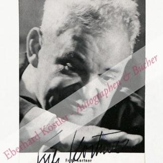 Kortner, Fritz, Schauspieler und Regisseur (1892-1970).