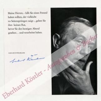 Käutner, Helmut, Regisseur und Schauspieler (1908-1980).