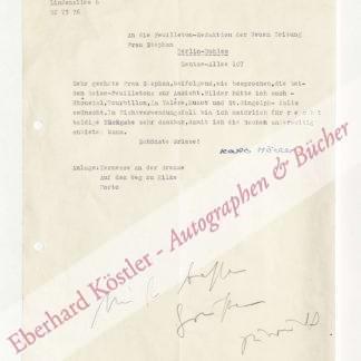 Höcker, Karla Alexandra (Pseud.: Christiane Rautter), Schriftstellerin (1901-1992).