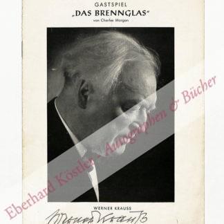 Krauss, Werner, Schauspieler (1884-1959).