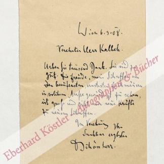 Schönherr, Karl, Schriftsteller und Arzt (1867-1943).