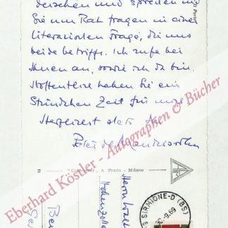 Mendelssohn, Peter de, Schriftsteller (1908-1982).