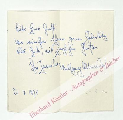 Altendorf, Wolfgang, Schriftsteller (1921-2007).