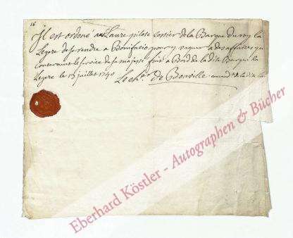 Bouville, Augustin (?) Toussaint Jubert de, Schiffskommandant (Daten nicht ermittelt).