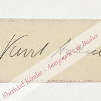 Aram, Kurt (eigentl. Hans Fischer), Schriftsteller (1869-1934).