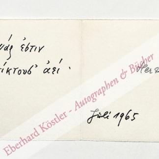 Orff, Carl, Komponist (1895-1982).